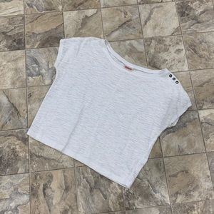 MOSSIMO White Crop Top